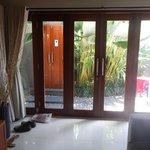 Way to the villa's main door