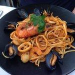 The seafood linguine