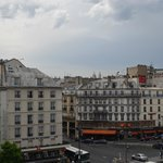 View from hotel, Sacre Coeur in the distance