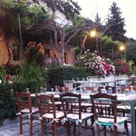 Chromata restaurant - a short walk uphill from Mazariki Guesthouse for a wonderful dinner with a
