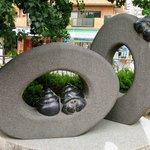 The cute snails are the Tsurumaki-onsen mascot