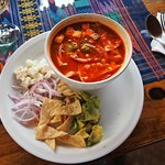 Tortilla Soup. Recommended! Cafe Sky Antigua. Photo World Travel Family