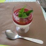 Panna Cotta with Raspberry Sauce