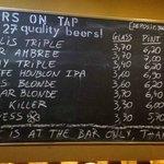 Guest beers menu