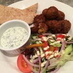 Falafel and tzatiki salad - homemade and delicious!