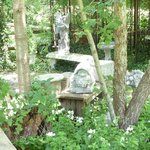 whimsical gardens at Courtyards