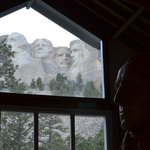 Mount Rushmore from the Sculptor's Studio