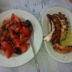 Pomodori ed olive, Polipo arrosto...tutto ottimo a buon prezzo!!