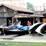 Rio di San Trovaso réparation de gondoles
