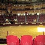 Small, indoor arena