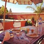 Delicious rooftop breakfast