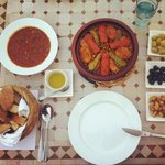 Dinner on the last night - the best meal I ate in Morocco