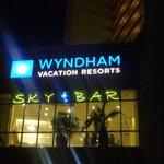 Sky Bar Lit up at night....