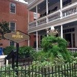 Husk, residing in the historic Pinckney house
