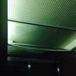 elevator ceiling falling apart