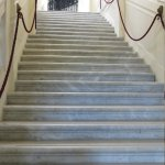 marble stair case to rooms