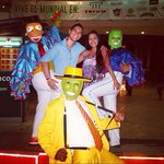 Take pictures with coco bongo characters!