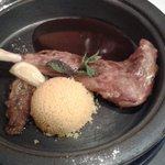 Lamb leg with couscous