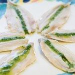 alici marinate con salsa alla menta