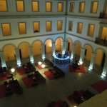 Central courtyard by night