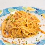 spaghetti ai ricci di mare con menta e limone