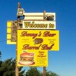 Denny's Beer Barrel Pub Roadside Sign