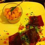 Melon + viande de grison... Humm!!