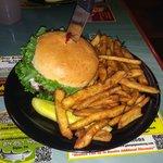 Half Pound Burger and Beer Battered Fries