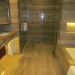 spacious bathroom in the Premier room