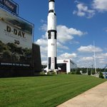 On the grounds of the Space and Rocket center.