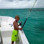 Son fishing