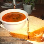 Gazpacho with home-made bread
