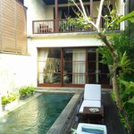 a view of your pool and the balcony to the 2nd bedroom