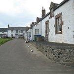 Pub in the corner of this U shaped fishing village