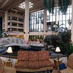 Panoramic of lobby and atrium