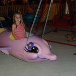 Riding the Purple Flying Dolphin....