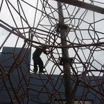 Giant Spider Web made of rope to climb
