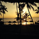 Beautiful sunset at Ledger Plaza Bahari Beach