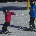 On the slopes after ski school