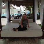 Bali beds galore surround the pool area!!