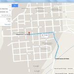 Wrongly indicated on google maps. It is 4 km from Barichara not as google indicates 700 m.
