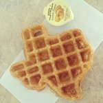 Texan waffle for breakfast !