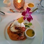Roasted Bahamian Lobster Tail with Sweet Potato Puree