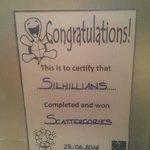 We Won Scattergories Quiz!