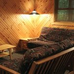 Two bedroom cabin sitting area