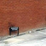 Tasters' Reserved Parking