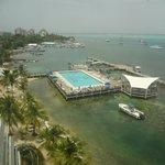 vista da piscina, mar do Caribe