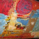 Painting on Wood in Israeli Lounge