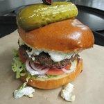 Mediterranean burger.