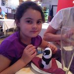 My little one with her animal ice cream :)